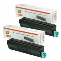 2x Original OKI Toner 1101202 schwarz für B 4300 4350 4500 4550 B-Ware