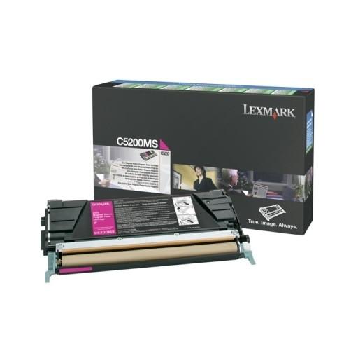Original Lexmar Toner C5200MS magenta für Optra C 530 Neutrale Schachtel