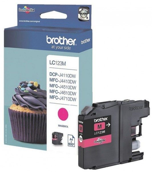Original Brother LC-123M Tinte Patrone für DCP-J 132 152 172 4110 552 752
