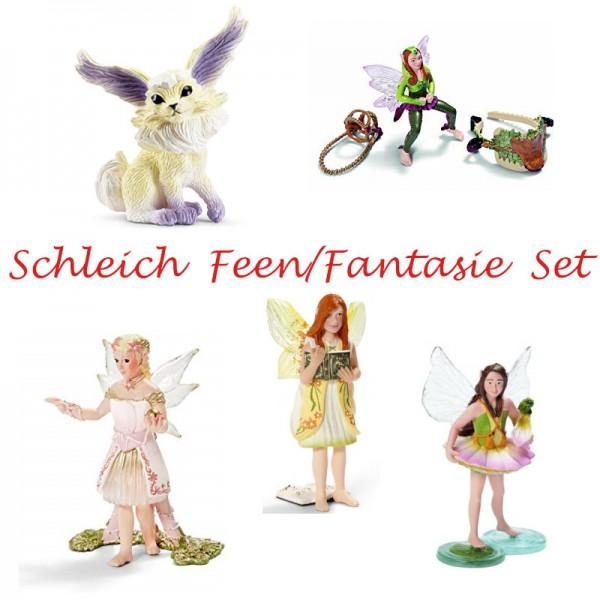 Schleich Feen / Fantasie 5 Figuren Set 70462 70463 70456 42098 70491