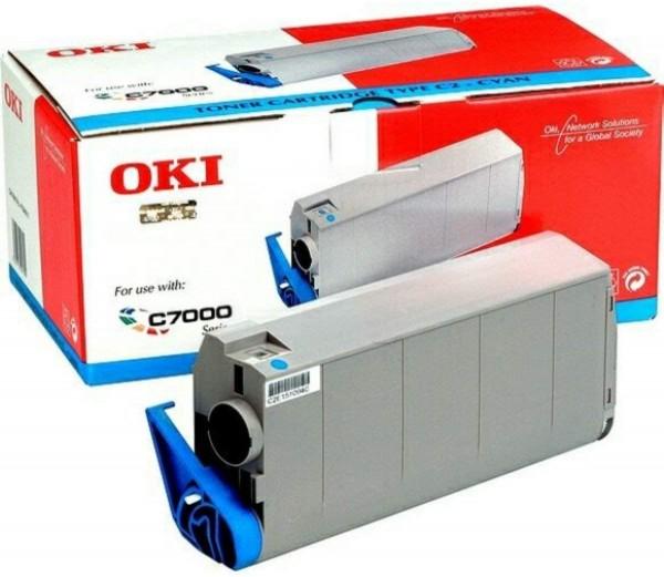 43020_Original_OKI_Toner_41963007_cyan_für_C_7100_C7300_C7500_C7350
