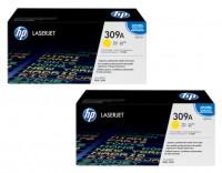2x Original HP Toner 309A Q2672A gelb für LaserJet 3500 3550 Cartridge B-Ware