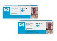 2x Original HP Toner Q3961A 122A cyan Laserjet 2550 2550L 2550LN Neutrale Schachtel