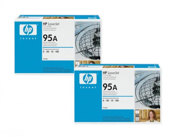 2x Original HP Toner 95A 92295A für LaserJet 2 2D 3 3D Neutrale Schachtel