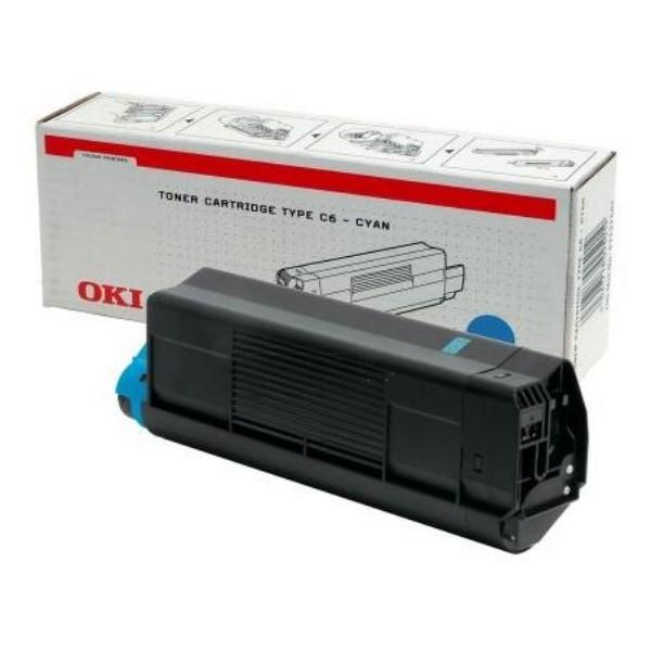 Original OKI Toner 42127407 cyan für C5100 C5200 C5300 C5400 Neutrale Schachtel