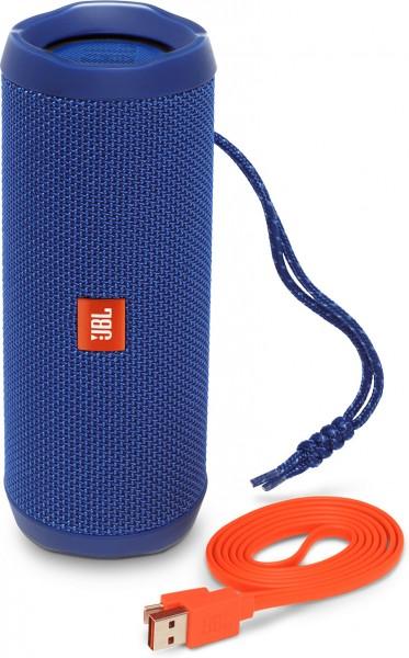 JBL Flip 4 - Bluetooth Lautsprecher - blau
