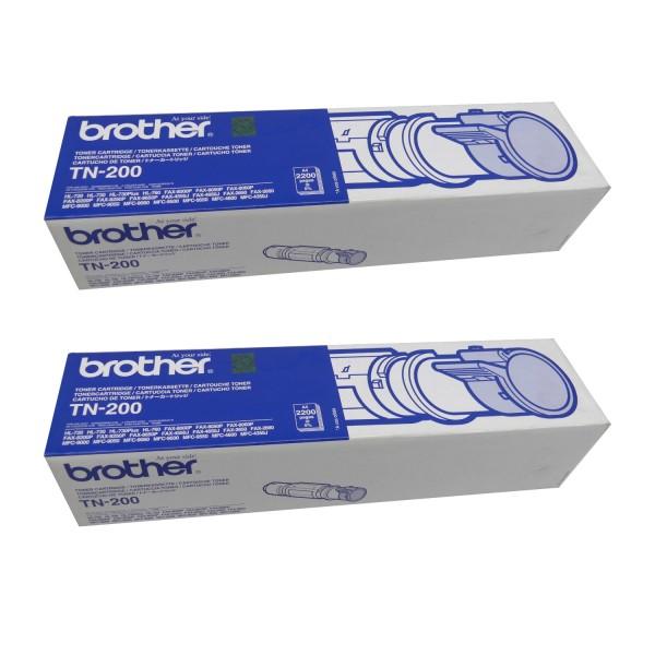 2 x Original Brother Toner TN-200 Fax 8000P 8060P 8200P 8250P Neutrale Schachtel