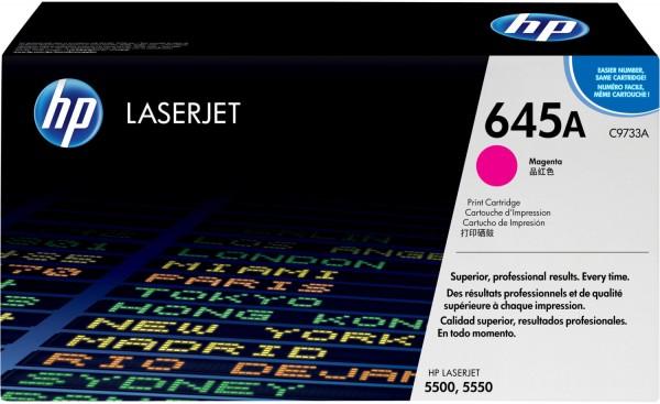 Original HP Toner 645A C9733A magenta für LaserJet 5500 5550 Neutrale Schachtel