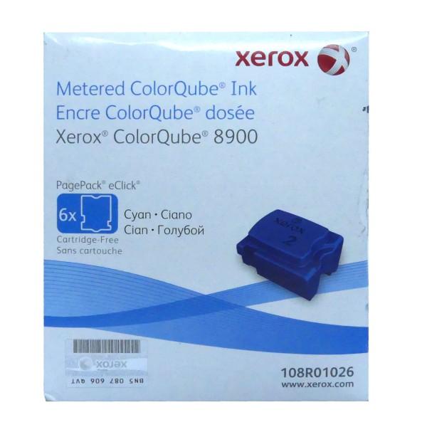 6x Original Xerox Tinte 108R01026 cyan für ColorQube 8900