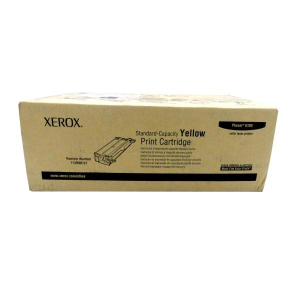 Original Xerox Toner 113R00721 gelb für Phaser 6180 B-Ware