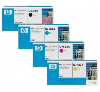 4x Original HP Toner 503A Q6470A Q7581/2/3A LaserJet 3800 CP 3505 Neutrale Schachtel