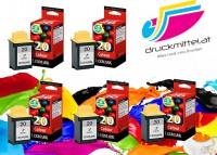 5x Original Lexmark 20 Tinte Patrone 15M0120 für Z42 Z51 P3120 704 706 707