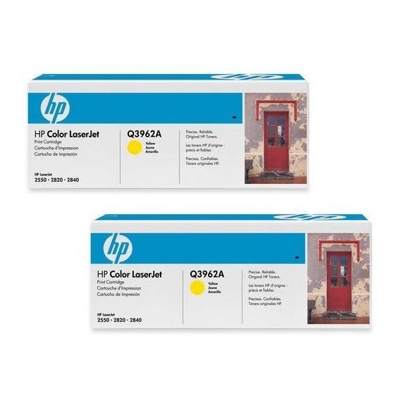 2x Original HP Toner 122A Q3962A für Color Laserjet 2550 2820 Neutrale Schachtel