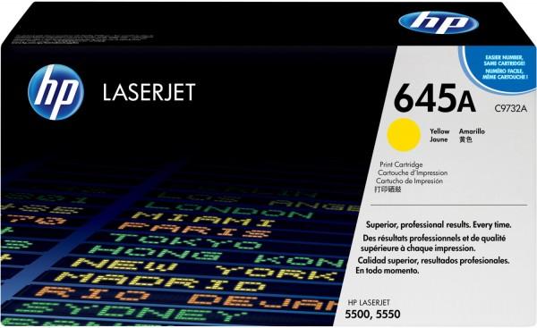 Original HP Toner 645A C9732A gelb für LaserJet 5500 5550 Neutrale Schachtel