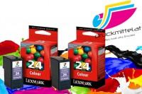 2x Original Lexmark 24 Tinte Patronen für X 3530 3550 4530 4550 Z 1410 1420 1450