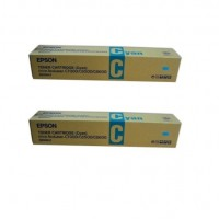 2x Original Epson Toner C13S050041 cyan für AcuLaser C8500 C8500PS