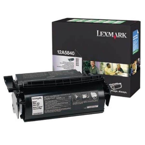 Original Lexmark Toner 12A5840 schwarz für Optra T610 T612 T614 T616 T710