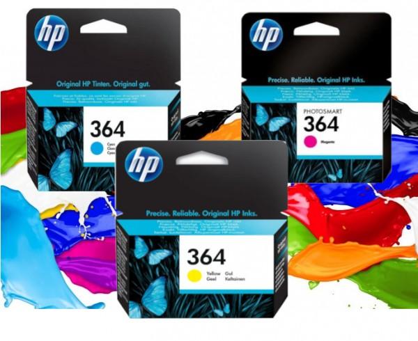 3x HP 364 Original Tinte Patrone 3070A 3520 3522 PHOTOSMART D5460 MHD