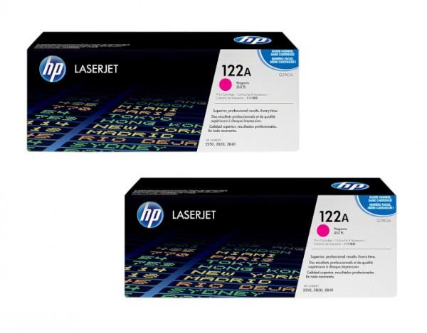 2x Original HP Toner 122A Q3963A magenta für Color LaserJet 2550 2820 2840