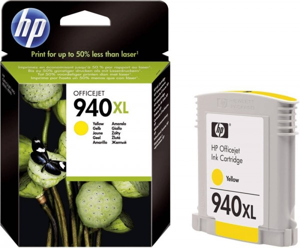 Original HP Tinte Drucker Patrone 940 XL gelb Officejet Pro 8000 8500 MHD