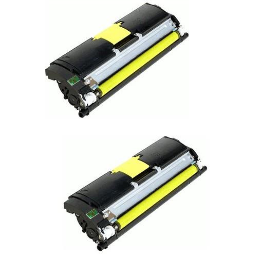 2x Original Konica Minolta Toner 1710589-005 gelb für Magicolor 2400 Neutrale Schachtel