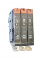 3x Original Canon Tinte CLI-8BK schwarz für iP4300 iP4500 iP5200 iP5300 Blister