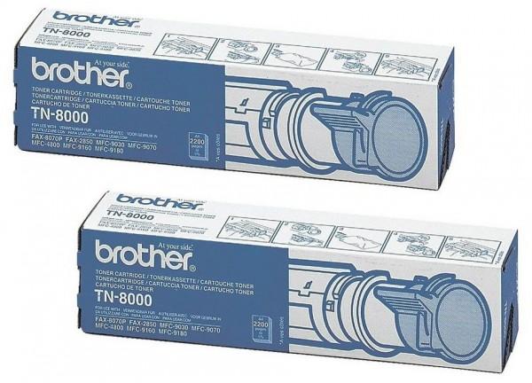 2x Original Brother Toner TN-8000 für MFC 9030 9070 4800 9160 Neutrale Schachtel
