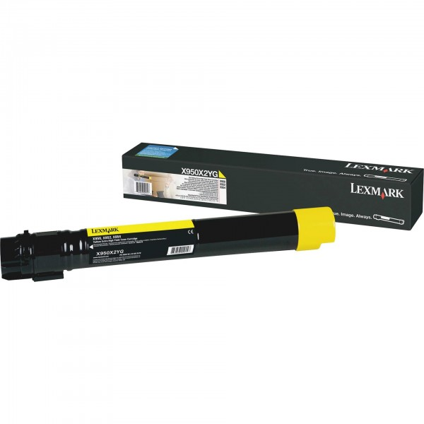 Original Lexmark Toner X950X2YG gelb für X950 X952 X954 B-Ware