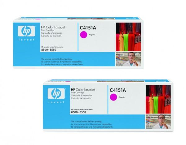 2x Original HP Toner C4151A magenta für Color Laser 8500 8550