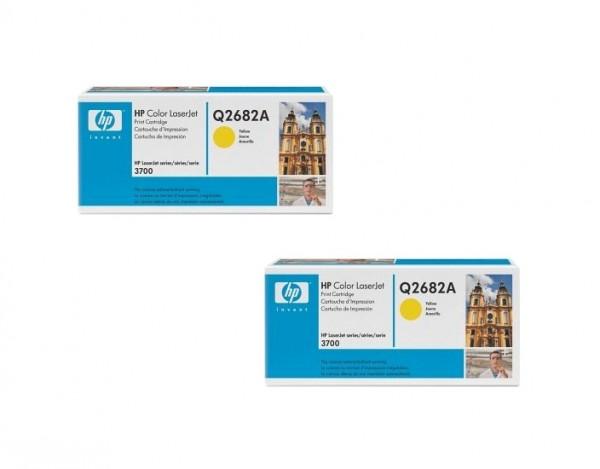 2x Original HP Toner 311A Q2682A gelb für Color Laserjet 3700 3700DN B-Ware