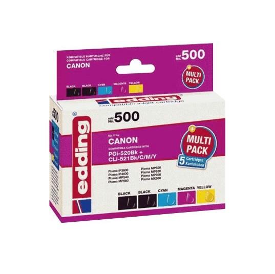 Original Edding Tinte Patrone 500 für Canon PGI-520/CLI-521 Pixma IP 4700 MP 540 620