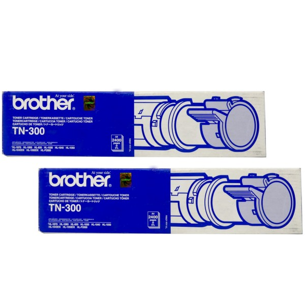 2x Original Brother Toner TN-300 schwarz für HL 700 720 730 Neutrale Schachtel