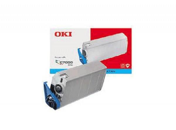Original OKI Toner 41304211 cyan für C7200 C7400 Neutrale Schachtel