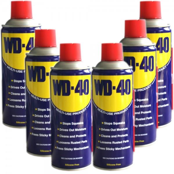 6x WD-40 Multifunktionsöl Vielzweck Spray 400ml Rostlöser Dose