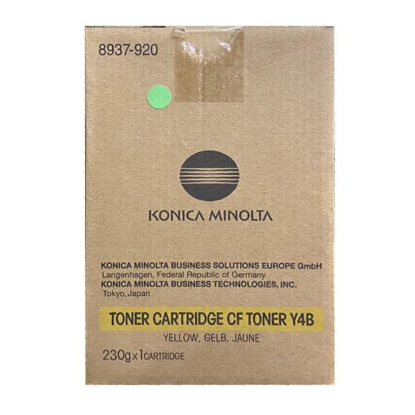 Original Konica Minolta Toner CF Y4B (8937-920) gelb für CF 2002