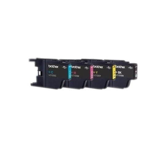 4x Original Brother Tinte Patrone LC-1220 für DCP-J 525 725 925 MFC-J 430 625 825 835 Blister