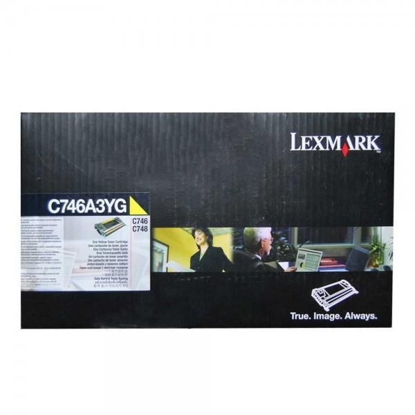 Original Lexmark Toner C746A3YG gelb für C 746 C 748 Neutrale Schachtel