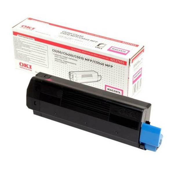Original OKI Toner 42127455 magenta für C5150n 5250dn 5250n 5450dn